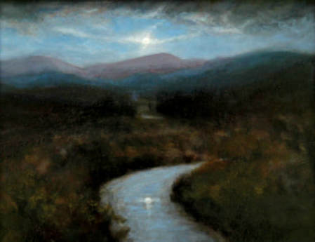Nocturne painting of the Catskill Mountains